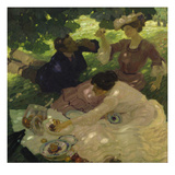 Picknick I, 1904 Art by Leo Putz