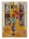 Japanese Roses in a Blue Glass, 1910 Giclee Print by Auguste Macke