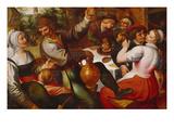 Bauernmahl Giclee Print by Marten Van Cleve