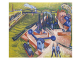 Western Port in Frankfurt Am Main, 1916 Giclee Print by Ernst Ludwig Kirchner
