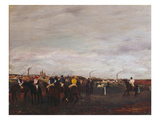 At the Racecourse, before the Race, 1872/73 Giclee Print by Edgar Degas