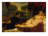 Venus Mit Dem Orgelspieler Und Einem Putto, 1548() Poster
