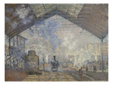 The Gare Saint-Lazare, 1877 Giclee Print by Claude Monet
