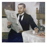 Portrait of the Painter Benno Becker, 1892 Gicleetryck av Lovis Corinth