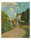 View of the Rue De Moubuisson, Louveciennes, 1874 Giclee Print by Alfred Sisley