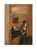Living-Room with the Artist's Sister, 1847 Giclee Print by Adolph von Menzel