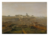 View from the Villa Malta onto the Quirinal Hill, Rome, 1818 Giclee Print by Johann Georg von Dillis