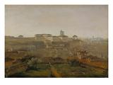 View from the Villa Malta onto the Quirinal Hill, Rome, 1818 Giclee Print by Johann Georg von Dillis
