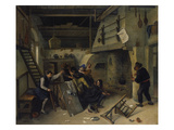 Fight Between Card Players in a Tavern, 1664 Prints by Jan Steen