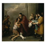 The Return of the Prodigal Son, 1667/70 Giclee Print by Bartolomé Estéban Murillo