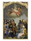 Kurfuerst Max Emanuel Empfaengt Eine Tuerkische Gesandtschaft Posters af Jacopo Amigoni