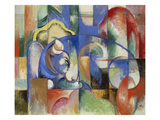 Lying Bull, 1913 Giclee Print by Franz Marc