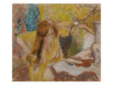 Woman Combing Her Hair, about 1894 Giclee Print by Edgar Degas