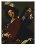 A Lutanist, about 1630/1635 Art by Bernardo Strozzi
