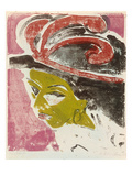 Mistress with Feather Hat Giclee Print by Ernst Ludwig Kirchner