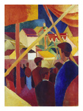 Tightrope Walker, 1914 Poster by August Macke