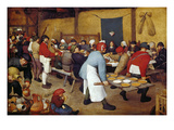 Rustic Wedding, about 1568 Giclee Print by Pieter Bruegel the Elder