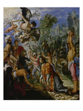 Stoning of St. Stephen, about 1602-05 Giclee Print by Adam Elsheimer