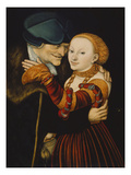 The Wooer Posters by Lucas Cranach the Elder