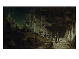 Nocturnal Round. before 1879 Giclee Print by Carl Spitzweg