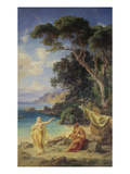 Odysseus Taking Leave of Calypso, 1864 Giclee Print by Fredrich Preller