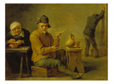 Two Farmers and an Old Woman in a Tavern Prints by David Teniers the Younger