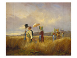 The Sunday Stroll, 1841 Gicleetryck av Carl Spitzweg