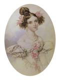 Bildnis des Fraeulein Sollogub, um 1830 Giclee Print by Peter Fedorowitsch Sokolov