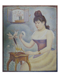 Young Woman Powdering Herself, 1889/90 Giclee Print by Georges Seurat