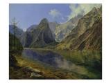 The Koenigssee with Watzmann, 1837 Giclee Print by Adalbert Stifter