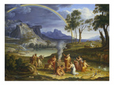 Landscape with Noah Offering a Sacrifice of Gratitude, 1803 Print by Joseph Anton Koch