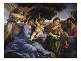 Maria Mit dem Kind Und Den Hll.Katharina Und James the Greater, um 1533 Kunstdrucke von Lorenzo Lotto
