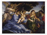Maria Mit dem Kind Und Den Hll.Katharina Und James the Greater, um 1533 Giclee Print by Lorenzo Lotto