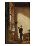 The Clerk, about 1850 Prints by Carl Spitzweg