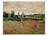 Mohnfeld Bei Vetheuil. Ca.1880 Giclee Print by Claude Monet