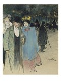 After the Play, about 1900 Giclee Print by Th&#233;ophile Alexandre Steinlen