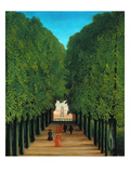 The Avenue in the Park at Saint Cloud, 1907/08 Giclée-Druck von Henri Rousseau