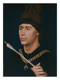 Portrait of Antoine, Bastard of Burgundy, about 1456 Giclee Print by Rogier van der Weyden