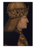 Emporer Friedrich III.(1415-1493) Painted Following the Example of 1468 Giclee Print by Hans Burgkmair