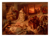 Nero on the Ruins of the Burning Rome Giclee Print by Karl Theodor von Piloty