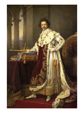 Ludwig I. of Bavaria in His Coronation Regalia, 1826 Giclee Print by Joseph Karl Stieler