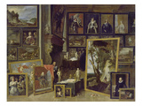 View of the Gallery of Archduke Leopold in Brussels (Ii) Giclee Print by David Teniers
