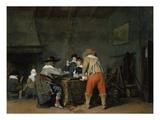 Die Trictrac-Spieler, um 1635 Giclee Print by Gerard ter Borch