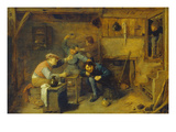 Brawling Card Players at an Inn Giclee Print by Adriaen Brouwer