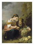 The Young Fruit Merchant, about 1670/75 Lámina giclée por Bartolomé Estéban Murillo