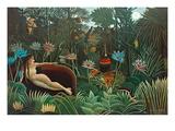 El sueño, 1910 Lámina giclée por Henri Rousseau