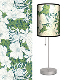 Green Floral Pattern - Table Lamp Table Lamp