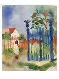 Garden Gate, 1914 Giclée-tryk af Auguste Macke