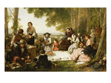 A Picnic, 1856 Prints by Henry Nelson O'Neil