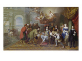 Louis Xiv. Receives an Ambassador Giclee Print by Charles Lebrun (Follower of)